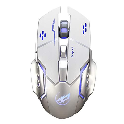 Funkmaus Drahtlose Maus stille Maus Wireless Touch Mouse Beleuchtete Gaming-Maus Q8 Laden Einer Gaming-Maus mit 6 Tasten USB-Empfänger Hintergrundbeleuchtung Desktop-Computer Notebook Gaming