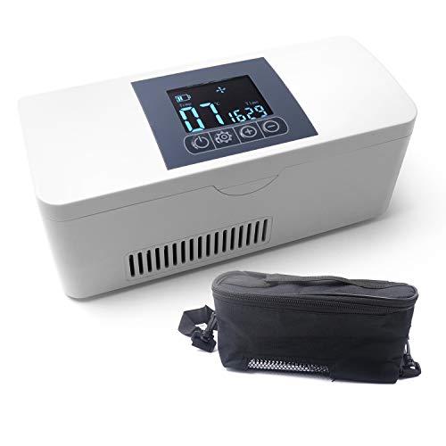 RBAYSALE Santé Réfrigerateur Glacière Électrique Portable Mini Thermostat Interféron Insuline Drug de Voiture ou de Maison Voyage 193 x 80 x 73mm
