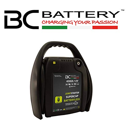 BC Battery Controller 709JSB45-12 BC Jumpstarter Batteryless 4500A-12V | Booster Professionale per Veicoli Benzina, Diesel, Ibridi Fino a 10000CC