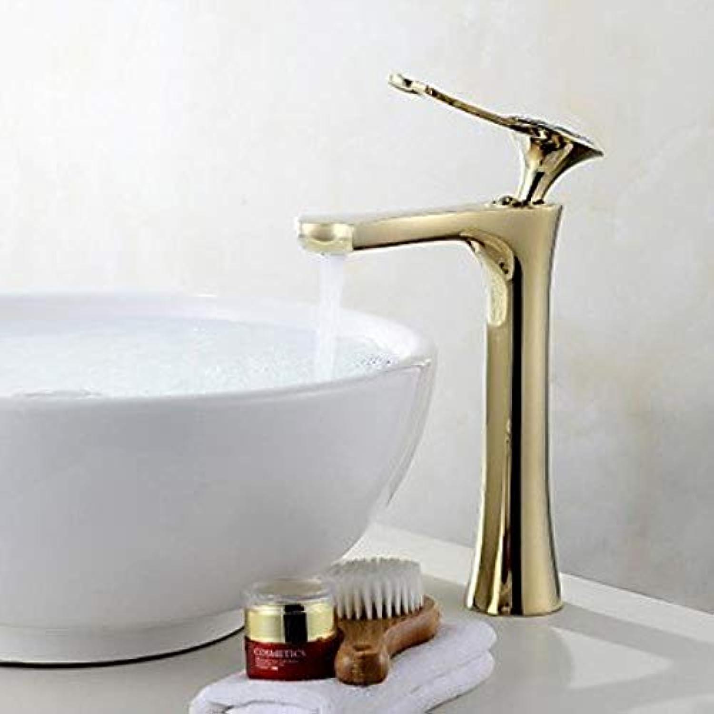 XSRKHomeCenterset-Keramikventil Ein Loch für Gold, Wasserhahn für Waschbecken