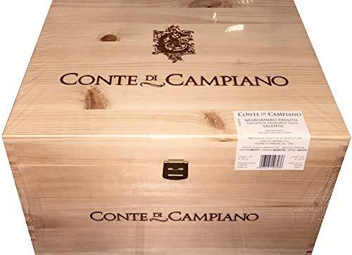 Appassimento Negroamaro Passito, Conte di Campiano Salento, Rotwein trocken, Jahrgang 2015, 6 x 0,75 l, geliefert in Weinkiste