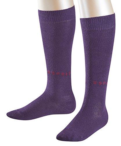 ESPRIT Kinder Kniestrümpfe Foot Logo 2-Pack, Baumwollmischung, 2 Paar, Rot (Orchid-Oregano 8762), Größe: 23-26