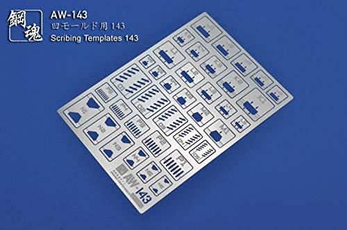 Madworks Steel Spirit AW-143 Photo Etch PE Model Panel Lining Scribing Templates for Gundam