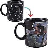 Silver Buffalo Star Wars Logo Heat Reveal Ceramic Coffee Mug for Cappuccino, Latte or Hot Tea, 20 Oz, Black