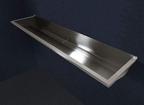 FRG Edelstahl 180 cm Rinne/Becken/Ausgussbecken/Waschrinne/Waschbecken/Waschtrog/Edelstahlrinne/Edelstahlbecken FRG