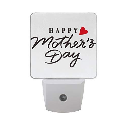 AOTISO Night Love Happy Mother's Day Love Heart, Auto Senor Dusk to Dawn Night Light Plug in