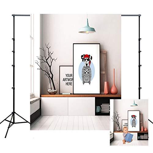 WQYRLJ 3D-Fotografie Kulissen, kat en hond decoratief schilderij vinyl foto achtergrond banner voor kinderen volwassenen portrettenfamilie party studio props schieten 6x10ft F