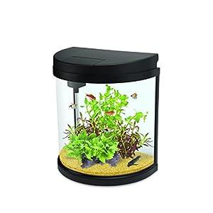 Interpet Led Fishbox Half-Moon Aquarium Fish Tank – 19 Litre
