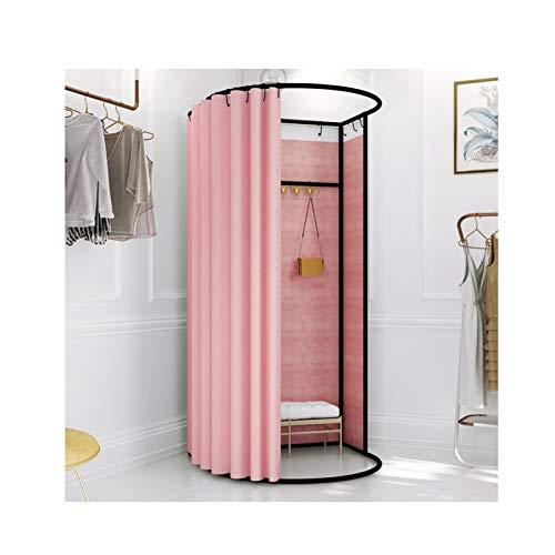 LJIANW Vestuario Portátil, Temporal Probador Espesar Paño de sombreado Refugio de privacidad for Tienda de Ropa el Centro Comercial fotografía Tienda, 9 Colores (Color : Pink-B, Size : 80X85X200CM)