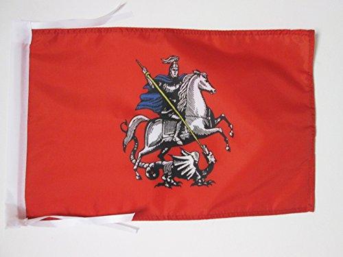 AZ FLAG Bandera de MOSCÚ 45x30cm - BANDERINA Moscow EN Rusia 30 x 45 cm cordeles