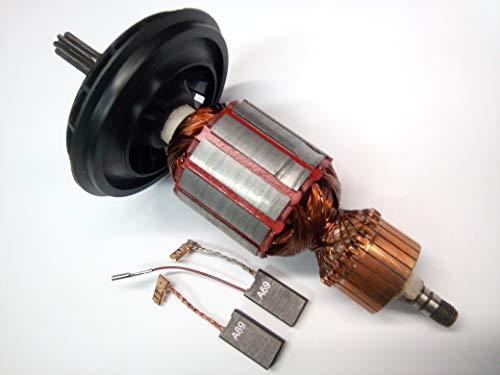 Motor Anker Rotor Läufer + Kohle für Bosch GBH 5-40 DE,GBH 5-40 DCE,GSH 5E,5 CE,Würth BMH 40-XE,MH 5-XE,Berner BCDH 5,BTI SH5E