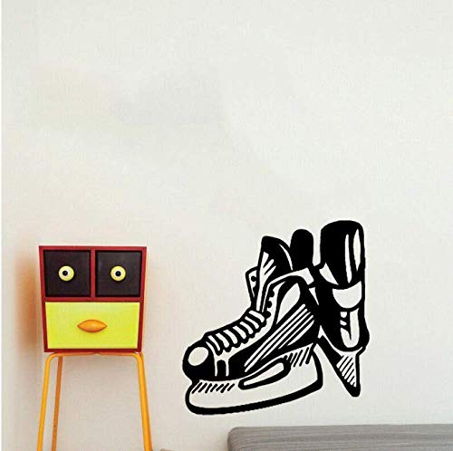 Aufkleber Decals Wallpaper 50Cm * 52.1Cm Coolste Wandaufkleber Schlafzimmer Hockey Schlittschuhe Blade Extreme Sport Pvc