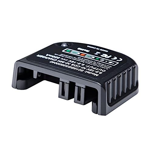 HANLILI kasu Cargador de reemplazo Ajuste para Negro y Decker 9. 6V-18V A12 A12-X HPB18 HPB14 HPB12 HPB96 HPB18-OPE NI-CD NI-MH Cargador de batería (Socket Standard : EU Plug)