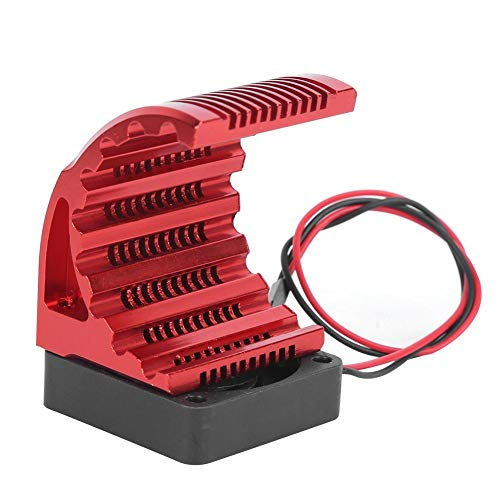 T best RC Motor Heatsink, Aluminum Alloy & Plastic Motor Heatsink with Fan RC Car Upgrade Accessory for 4274 7282 1515 RC Car 42mm Motor