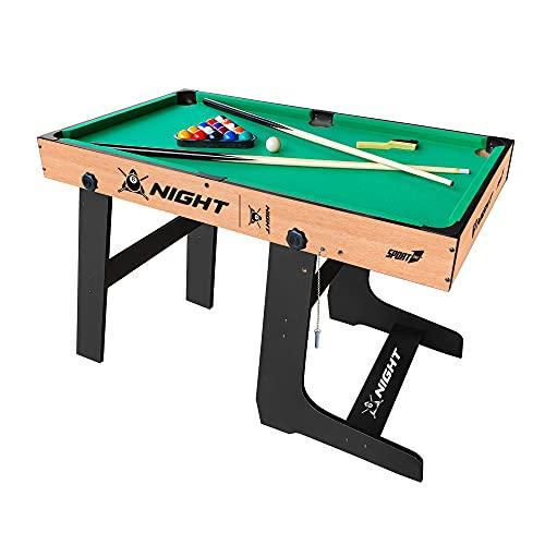 Biliardo Pieghevole Grande Tavolo E-Sport Biliardo Per Bambini Biliardo Biliardo Modello Night Verticale Pieghevole 122X61X76 cm