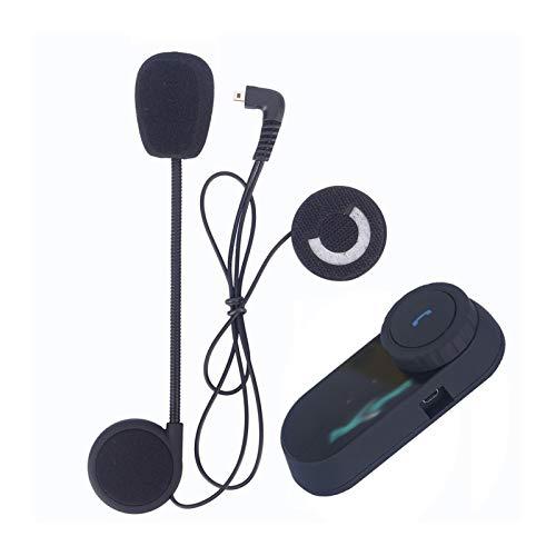 SDFD Motocicleta Walkie Talkie Casco Bluetooth Auriculares Rider FM BT Walkie Talkie Walkie Talkie Altavoces de Casco (Color : 1 Hard Mic intercom)