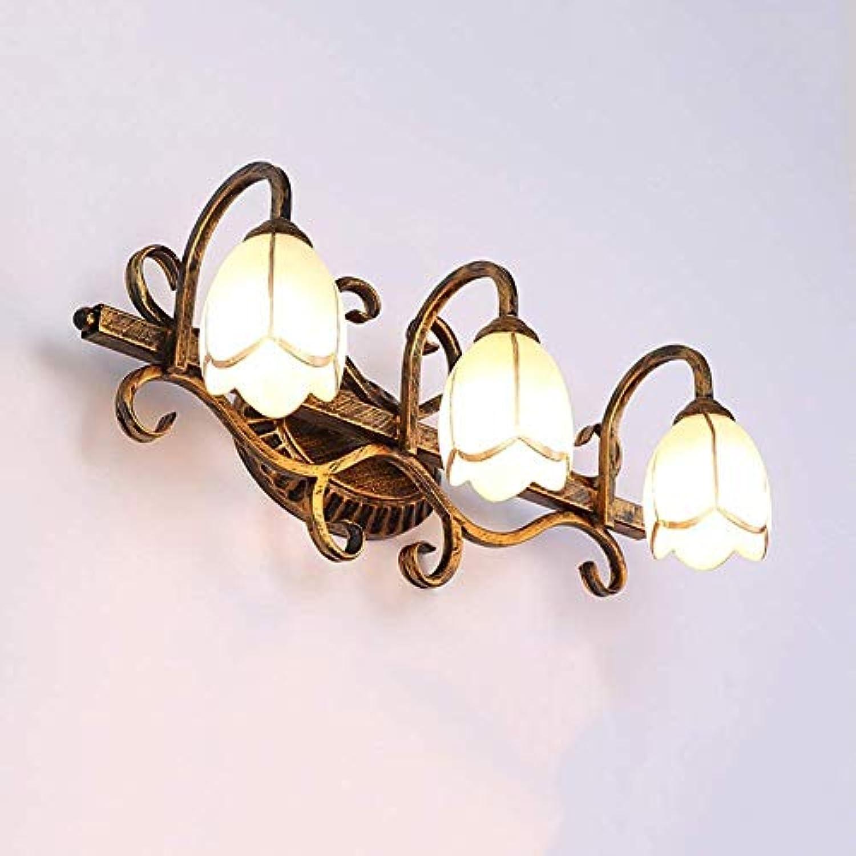 Mirror Lamps Home Spiegel Frontleuchten Retro Badezimmer Lichter Dressing Wandleuchte Spiegel Schrank Lichter Kreative Led Vanity Light Messing (Größe   Three Head)