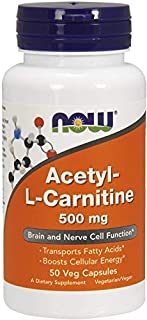 Now Foods Acetyl L-Carnitine 500mg Standard - 50 Cápsulas