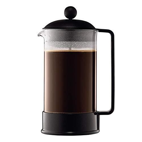 Vobajf Caffettiere a pistone French Press Pot Filtro Tazza tè e caffè Set Ufficio delle Famiglie Mano Coffee Pot cafetieres (Colore : Stainless Steel, Size : 350ml)
