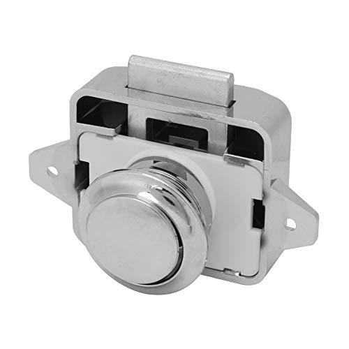 YOPOTIKA 3Pcs Auto Boot Push Button Schlösser RV Schrank Schublade Sicherheit Latch Lock Chrom