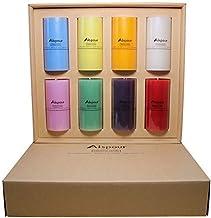 مجموعة شموع عمودية ملونة من Aispour من 8 قطع (8 × 6.85 جم) شموع لزينة عيد الميلاد المجيد، هدية فاخرة للنساء  وقت طويل يستخ...