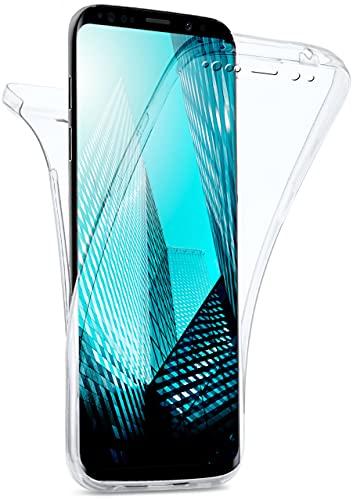 moex Double Hülle für Samsung Galaxy S9 Hülle Silikon Transparent, 360 Grad Full Body R&um-Schutz, Komplett Schutzhülle beidseitig, Handyhülle vorne & hinten - Klar