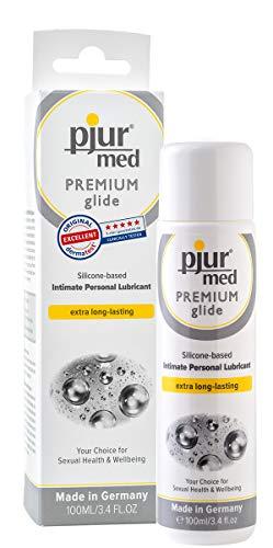 pjur med PREMIUM glide - Medizinisches Gleitgel auf Silikonbasis - für hochsensible Haut/Schleimhaut - Allergikerfreundlich (100ml)