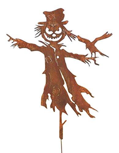 Vogelscheuche in Edelrost Herbstdekoration 120cm