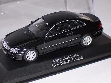 MERCEDES-BENZ CLK COUPE SCHWARZ BLACK W209 2007 W 209 1/43 MINICHAMPS MODELLAUTO MODELL AUTO