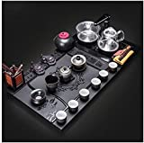 Juego de té Conjunto totalmente automático de juego de té de kung fu, conjunto de té chino, juego de té para gongfu,...