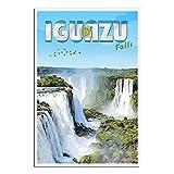 Vintage-Reise-Poster Iguazu Falls Argentinien,