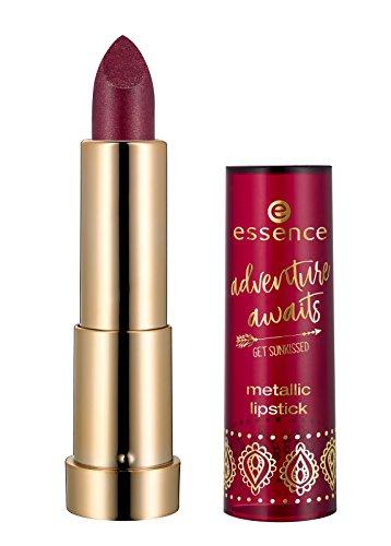 Essence adventure awaits get sunkissed Metallic Lipstick Nr. 01 kisses from the orient Inhalt: 3,5g Lippenstift für tollen Glanz. Lipstick