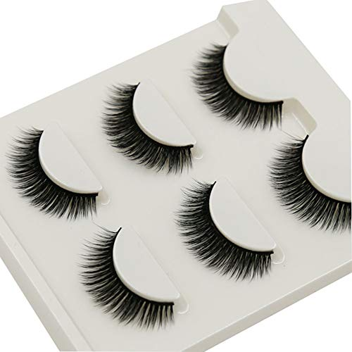 lashes CAIXAI 3 Pairs- Natural Look for Makeup False Eyelashes Set- Professional Reusable 3D Faux Easy Apply, Fluffy Soft