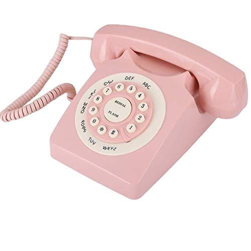 Teléfono Vintage Teléfono de la vendimia, con cable de teléfono del teléfono de dial for ancianos Móviles botón grande for la tercera edad con alta definición de calidad de la llamada, el Escritorio T