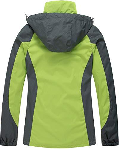 41FBMAQDxhL - Diamond Candy Women's Waterproof Jacket Outdoor Hooded Raincoat