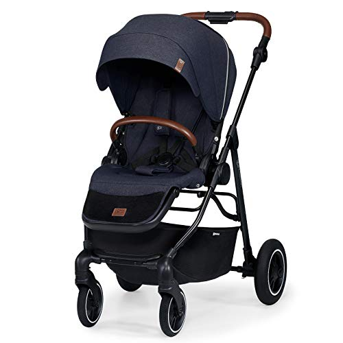 Kinderkraft Stroller ALLROAD, Pushchair, Baby Buggy, Easy Folding, Large Hood with UPF 50+, Two Pushing Directions, All Wheels Suspension, Accessories in Set, Navy