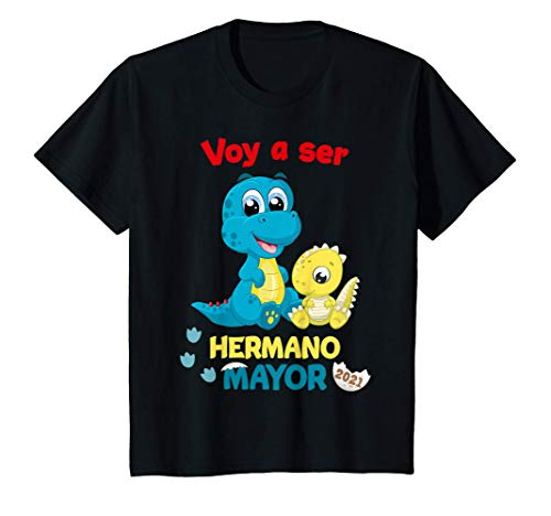 Niños Voy a ser un Hermano Mayor 2021 Anuncia Embarazo Dinosaurio Camiseta