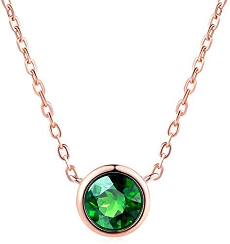 NC110 Collar con Colgante de Cristal de Estilo Simple para Mujer, joyería de Cristal de níquel, tamaño 44 + 6cm YUAHAOJIGE8