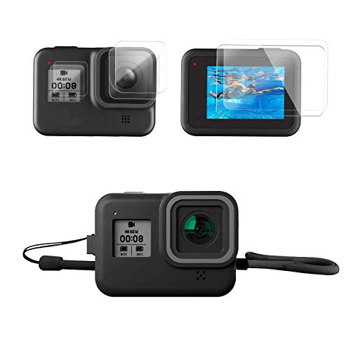 Finest+ Accessories Kit for GoPro (Silicone Case+ Screen Protector for GoPro Hero 8 Black)
