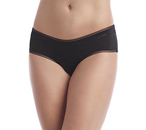 DKNY Damen Litewear Low Rise Hipster Unterwäsche, schwarz, Klein