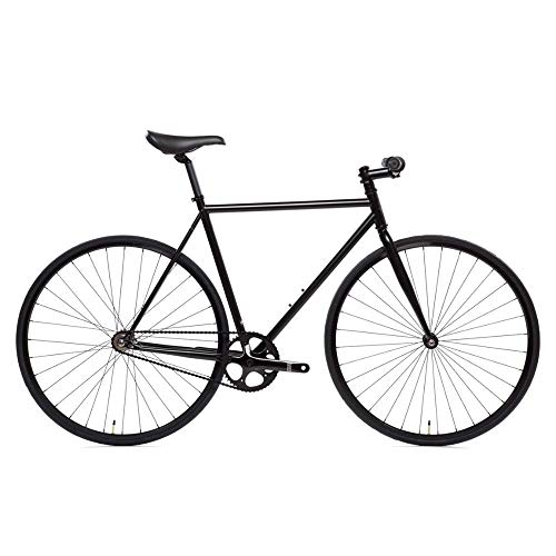 Learn More About State Bicycle 4130 – The Matte Black | Double Butted Grade Chromoly Steel – Fixed Gear/Single Speed | 59cm Riser Bar