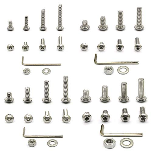 520pcs M3 M4 M5 M6 Bolts Screws Nuts Assortment Kit 304 Stainless Steel Button Head