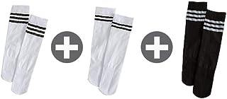 calcetín, calcetín de Hombre Tres Pares Mujeres de la Pantorrilla Negro del Tubo Largo Finos del Verano de Mitad de Tubo de Media Altura de la Rodilla Tubo Mujer
