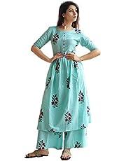 GoSriKi Women's cotton straight Salwar Suit Set