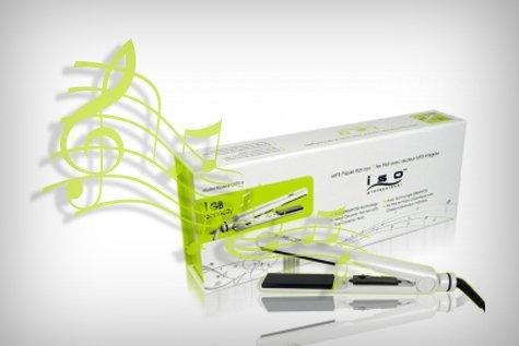 Iso Professional MP3 Player Flat Iron 1GB Capacity