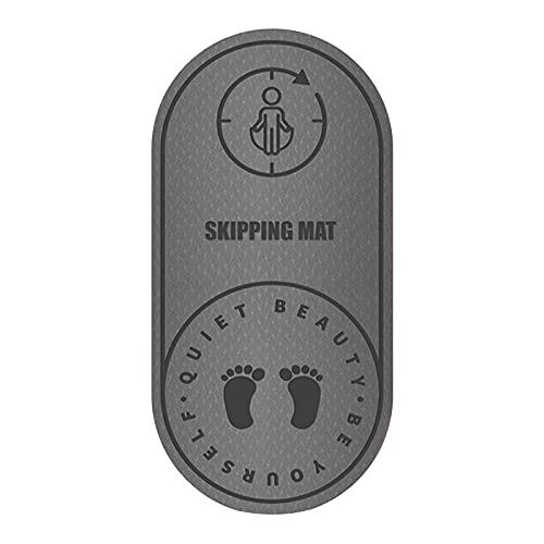 AKlamater Seil-Springmatte, rutschfest und wasserdicht, schalldicht, Dämpfung, Yoga, Indoor- und Outdoor-Matte für Damen und Herren, 126 x 60 x 6 mm, 126 x 60 x 8 mm (L Grau-2)