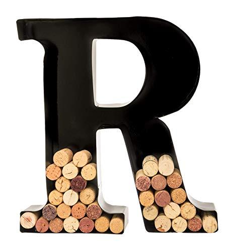 Wine Cork Holder - Metal Monogram Letter (R)