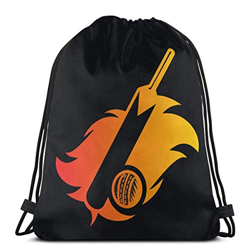 BFGTH Kordeltasche Cricket Bat Drawstring Backpack Rucksack Shoulder Bags Gym Bag