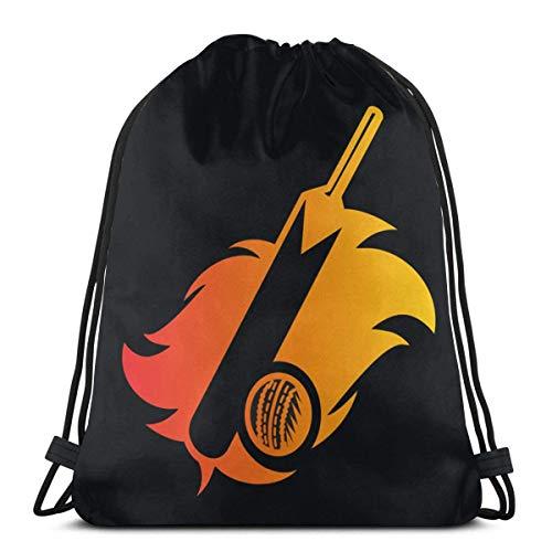 HFXY Cricket Bat Kordelzug Rucksack Rucksack Umhängetaschen Gym Bag