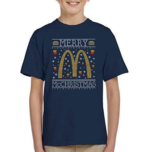 Merry McChristmas McDonalds Christmas Knit patroon kinderen en jeugd Unisex T-shirt